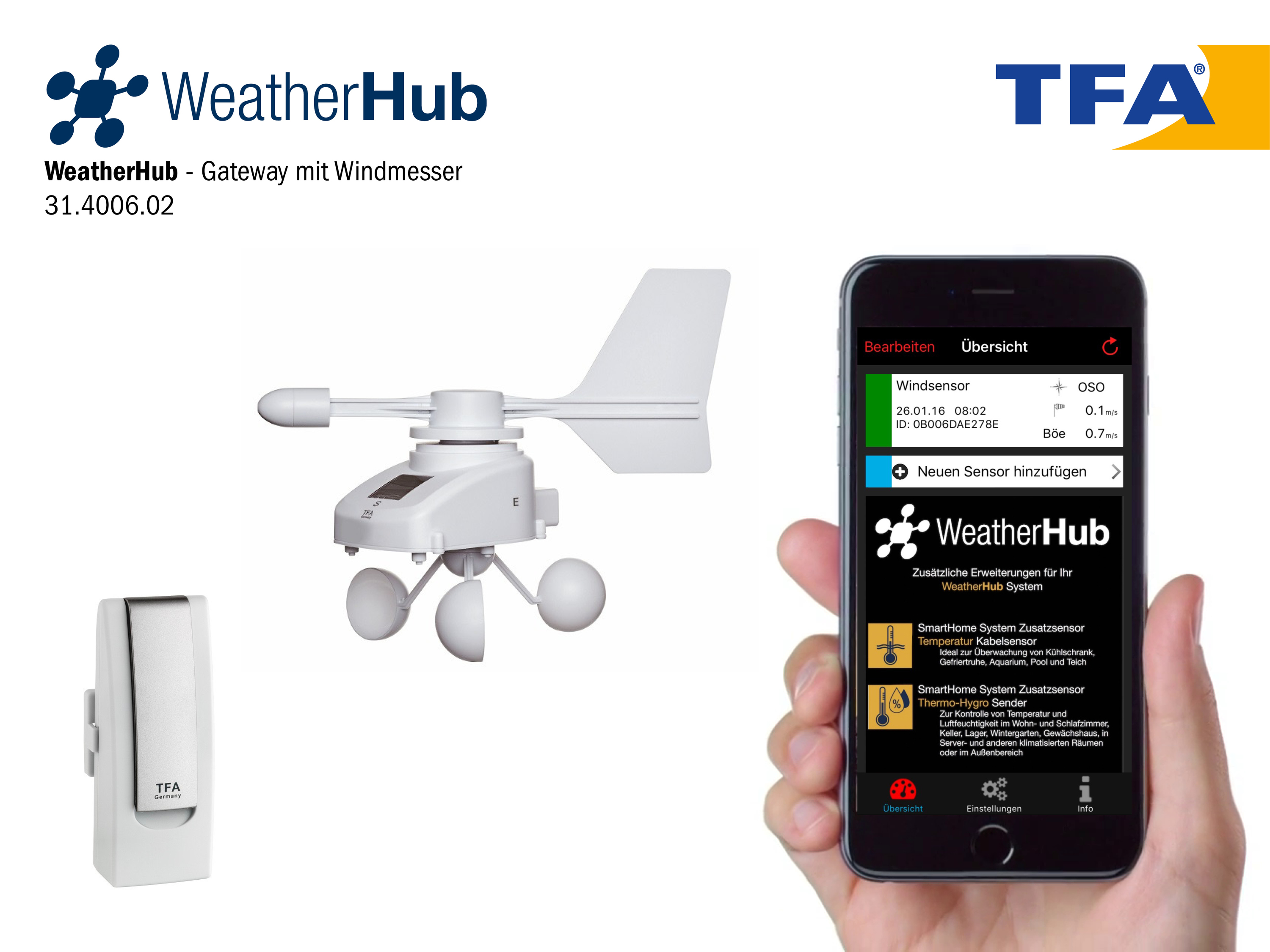 Test der TFA Weather Hub Wetterstation