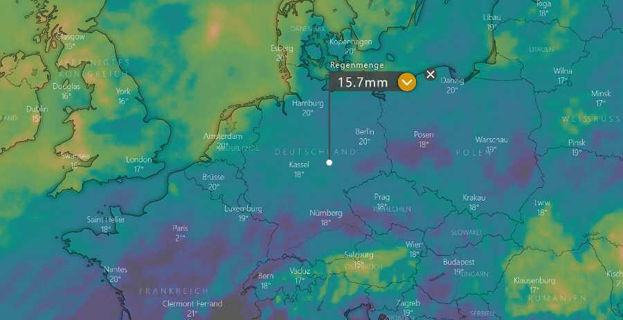 Wetterprognose August 2021